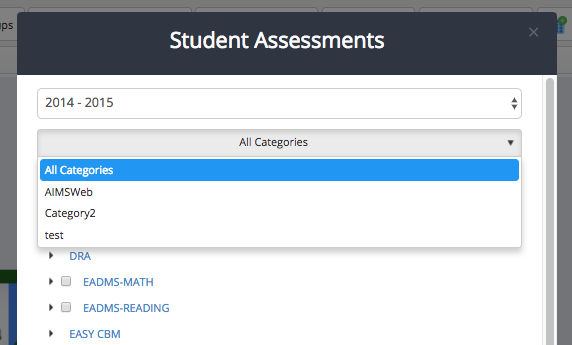 Assessments with Categories